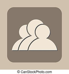 three people vector icon