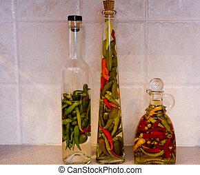 Three Pepper Jars