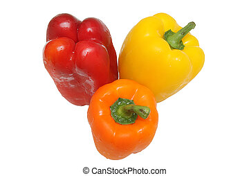 Three peppers isolated
