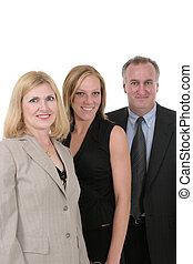 Three Person Business Team 1 - A three person business team...