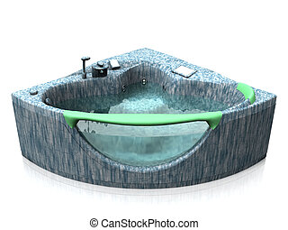 Three person hot tub