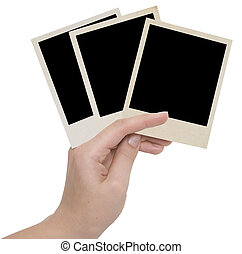 three photo frames