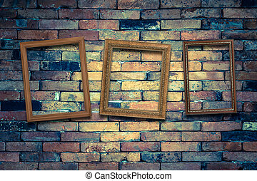 three picture frame on the wall