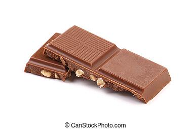 Three pieces of chocolate