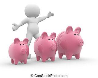 Three piggy bank