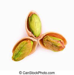 three pistachios
