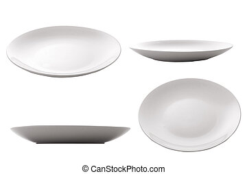 empty plate - three point of view of empty plate