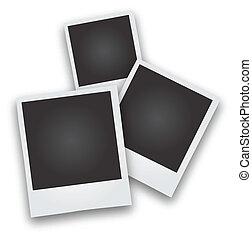 Three Polaroid Picture Frames