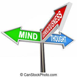 Three Principles Mind Consciousness Thought Arrow Signs -...