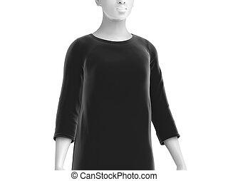 Three quarter sleeves shirt, women fashion dummy wearing...