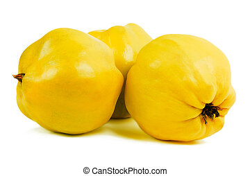 quinces on a white