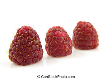 three raspberries in a row