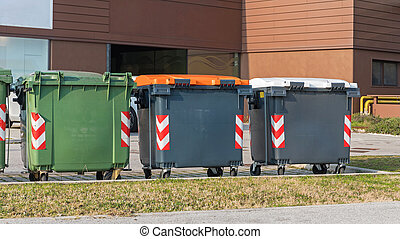 Three Recycling Containers