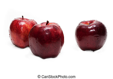 Three red apples (groupe)