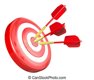 Three red arrows hit target