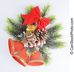 Three red Christmas bells