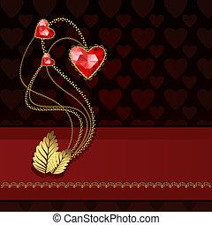 Three red diamond hearts