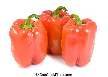 Three red pepper