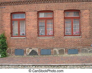 three red windows
