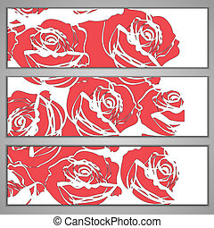 banners with red roses