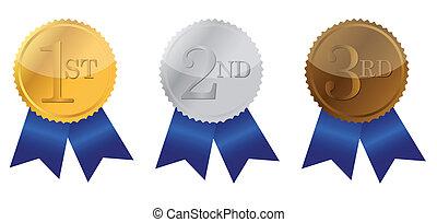 Three ribbons of Achievement - Three ribbon of Achievement,...