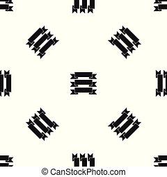 Three ribbons pattern seamless black - Three ribbons pattern...