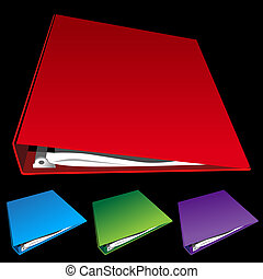 three ring binder set - set of three ring binders.
