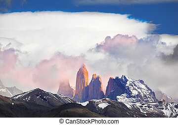 Three rock Torres del Paine