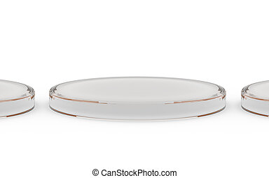 three round glass stand for products display