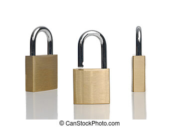 Three security gold locks