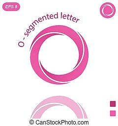 Three segmented o letter