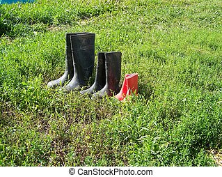 Three sets of Rubber Boots - Family set of rubber boots