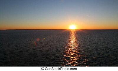 Three shots of the beautiful sunset