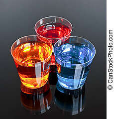 Three shots on a black background perfect for promotions or ...