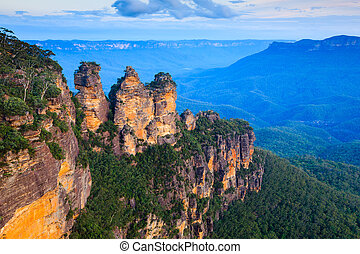 Three Sisters Australia - The Three Sisters From Echo Point,...
