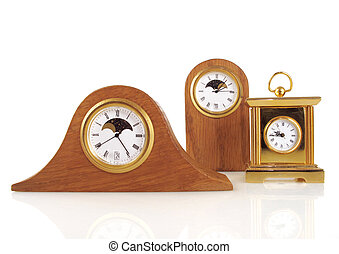 Three small clocks