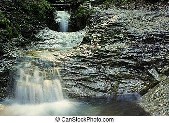 Three small waterfalls