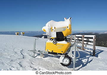 Three snow cannons - Three snow guns on the top of the...