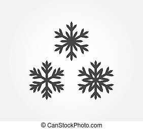 Three snowflakes icons.