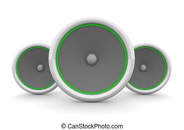 Three Speakers - Green Design