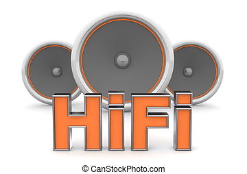 Three Speakers - HiFi in Orange