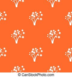Three spiky palm trees pattern seamless