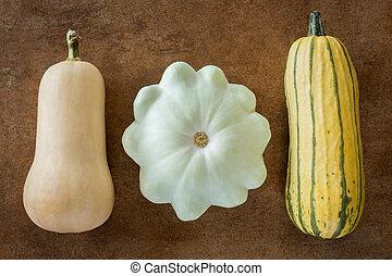 Three Squash Varieties