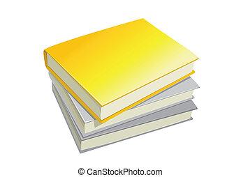 three stack books