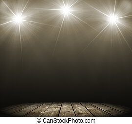 three stage spot lighting - concert spot lighting over dark...