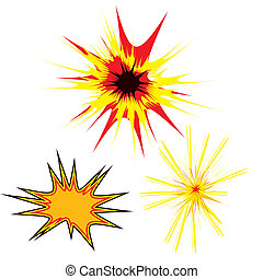 three star - Three colored stars in a cartoon style with...