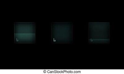 Three Static Screens