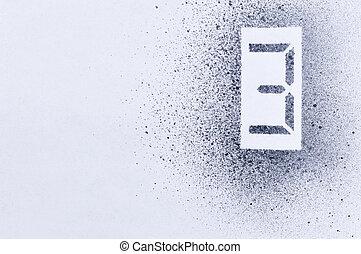 three stencil number