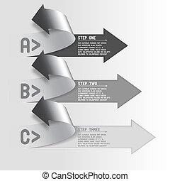 Three step arrows - Next steps conception