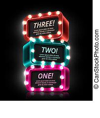 Three steps, infographics banner, eps 10